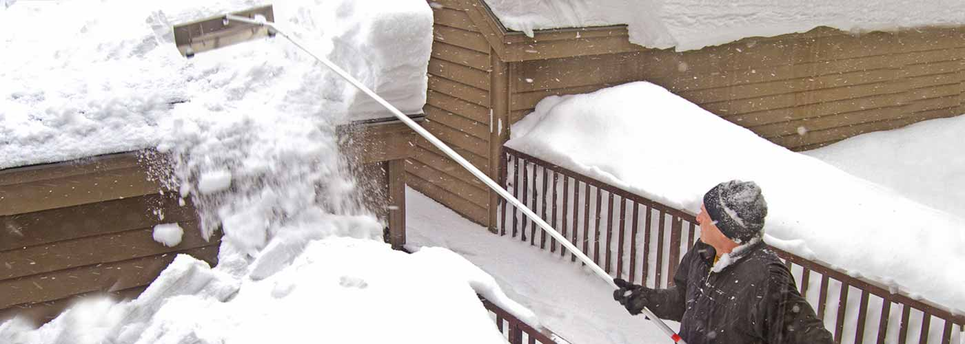 using a roof rake can prevent ice dams